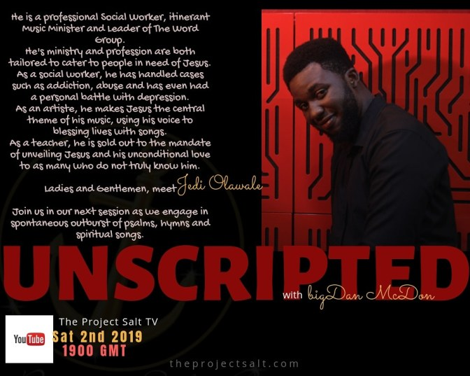 Unscripted's Pilot Session is Now On The Project Salt TV